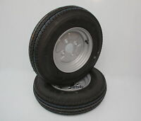2x Anhängerrad Komplettrad Rad 4.50-10 400kg LK 4x100 Reifen Stema DELI Tyre