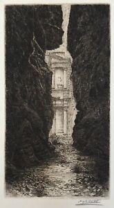 "Harry George Webb (1882-1914) ""Petra Jordan"" Original Signed Etching"