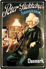 Peter Stokkebye's Tobaksfabrik Danmark Blechschild geprägt 20 x 30 cm *