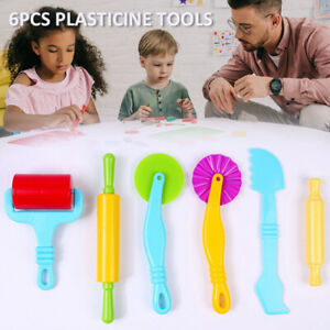6PCS Dough Tools Extrusion Play Set Modelling Clay Extrusion Mold Kids Toy