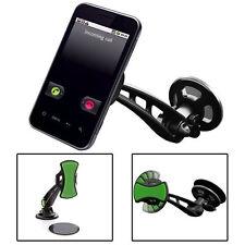 SUPPORTO DA AUTO UNIVERSALE PORTA CELLULARE SMARTPHONE + DISCO ADESIVO CRUSCOTTO