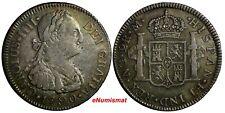 Guatemala Charles IV Silver 1790 NG M 2 Reales Light Toned KM# 51