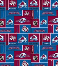 NHL HOCKEY COLORADO AVALANCHE FLEECE FABRIC MATERIAL BY THE 1/2 YARD CRAFTS
