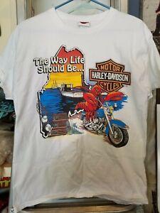 Vintage Harley Davidson DEALERSHIP. central Maine 1992 T Shirt M. Bangor, MAINE
