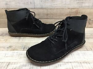 Clarks Tamitha Key Lace-up/Zip Black Suede/Leather Ankle Boots Womens sz 6 M