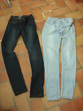 lot deux pantalons un jeggings + un jean état neuf Cache Cache 34 (36)
