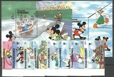 Walt Disney, Olympiade - Grenada Grenadinen - 944-951, Bl.143-144 ** MNH 1988