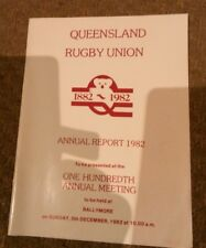 Queensland Rugby union annual report 1982,  100th annual meeting at ballymore