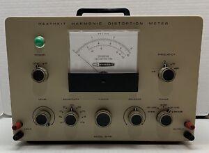 Heathkit Model IM-58 Harmonic Distortion Meter ~ Powers ON ~ Excellent Condition