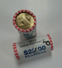 TWO US ROLLS of 2010-P SACAGAWEA DOLLARS, UNC in ORIG BANK WRAP - $50.00 Face