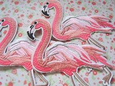 1 x Gorgeous Flamingo Sew On/Iron On Embroidered Patch Badge Applique DIY Motif