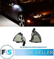 VW GOLF JETTA EOS 18 SMD WHITE LED UNDER SIDE WING MIRROR LIGHT LAMP CANBUS OEM