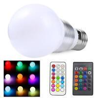 3W E27 85-265V 6 Color LED RGB Magic Spot Light Bulb Lamp with Remote Control GA