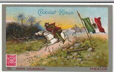 chromo chocolat klaus postes universelles - n°10 / mexico