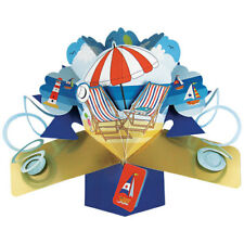 3D  Pop Up Greeting Card by Second Nature - Deck Chairs - #084