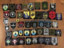 """COLLECTION 44 PATCH UKRAINE MILITARY POLICE PATRIOTS  """" AZOV  """"  RUSSIA CONFLICT"""