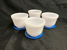 Federal Oven Proof White Milk Glass Lady Michelle ~ (4) Custard / Dessert Bowls
