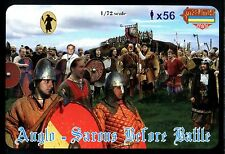 Strelets-R 1/72 M050 Anglo-Saxons Before Battle (56 Figures) (No Original Box)