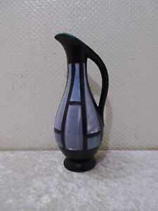 DDR Rockabilly Midcentury Design Strehla Céramique Vase Krug Vintage À 1950/60