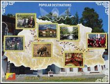 Bhutan 2016 Populäre Reiseziele Tourismus Yak Kloster Takin Dzong Fluß Kind MNH