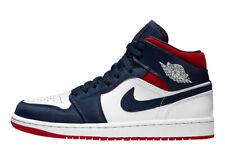 Nike Air Jordan Retro 1 MID SE USA WHITE Varsity Red Midnight Navy 852542-104