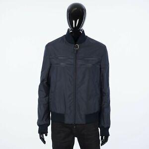 BRIONI 3500$ Reversible Blouson Jacket In Navy Blue Virgin Wool & Nylon