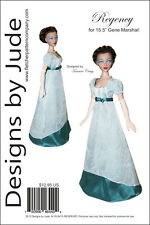 "Regency Doll Clothes Sewing Pattern for 15.5"" Gene Marshall Dolls Ashton Drake"