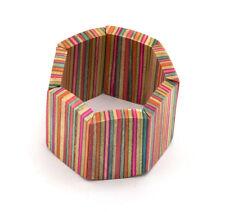 Multi Coloured Wood Bracelet