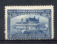 Weeda Canada 99 VF mint H 5c blue 1908 Quebec issue, rich colour CV $85