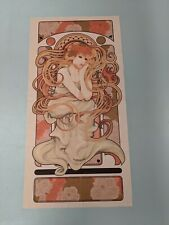 1920s vintage style Wall Hanging art deco poster printed fabric lady woman girl