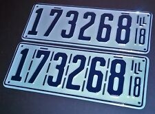 Illinois License Plate RESTORATION SERVICE 1914 1927 1934 1938 1948 1950 1953