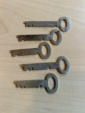 Lot Of 5 Vintage Sargent & Greenleaf Flat Key Rochester, New York Padlock Trunk
