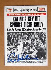 Detroit Tigers Al Kaline Signed 1968 world Serie Highlight card