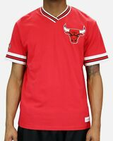 Mitchell & Ness Chicago Bulls RED Overtime Win Vintage V-Neck T Shirt NBA