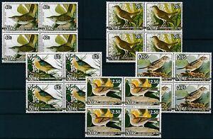 [P15660] Niue 1985 : Birds - 4x Good Set Very Fine MNH Stamps in Blocks - $110