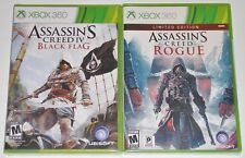 Xbox 360 Game Lot - Assassin's Creed IV Black Flag (New) Rogue (New)