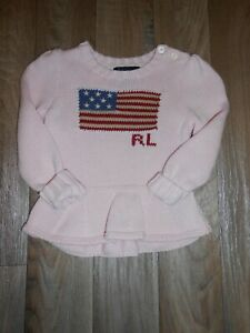 RALPH LAUREN PINK JUMPER EXCELLENT CONDITION AGE 18 MONTHS REALLY LOVELY