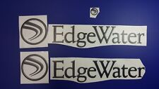 "EdgeWater boats Emblem 25.5"" black + FREE FAST delivery DHL express - stickers"