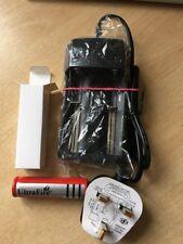 1 X  18650 4200 mah Li-ion Ultrafire Battery 4.2V And Fused U.K. Plug Charger