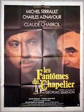 Affiche LES FANTOMES DU CHAPELIER Simenon CHABROL Corbeau SERRAULT 120x160cm .