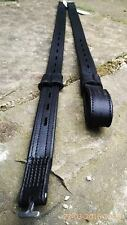 HERITAGE 100% ENGLISH MEDIUM LENGTH BLACK T BAR DRESSAGE WEBBERS,SINGLE STRAP
