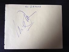 VIC DAMONE  - CHART TOPPING SINGING LEGEND  - FULLY SIGNED VINTAGE ALBUM PAGE