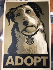 Shepard Fairey Obey Giant Print Adopt GOLD Variant Signed Numbered Art Poster
