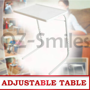 FOLDABLE TABLE LAPTOP ADJUSTABLE TRAY BED PORTABLE DESK MATE TV DINNER