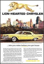 1959 CHRYSLER New Yorker Spun Yellow 4-dr Hardtop Sedan Car AD