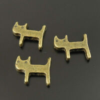 34233 Antiqued Bronze Tone Vintage Cat Shaped Bead Spacer Beads Finding 70pcs