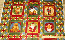 "12 Days of Christmas Santa Snowman Teresa Kogut Christmas Fabric 23"" Pnl #26901"