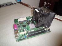 IBM thinkcenter 45c0083 Motherboard W// sl9qq CPU and 41a7713 heatsink