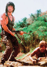Rambo Sylvester Stallone Machine Gun POSTER