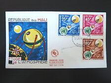 MALI  47/49    PREMIER JOUR FDC       ETUDE ATMOSPHERE       25+45+60F    1963